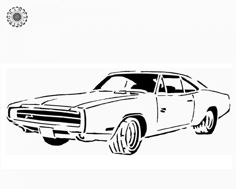 Dodge Charger Daytona Drawings