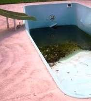 damaged swimming pool