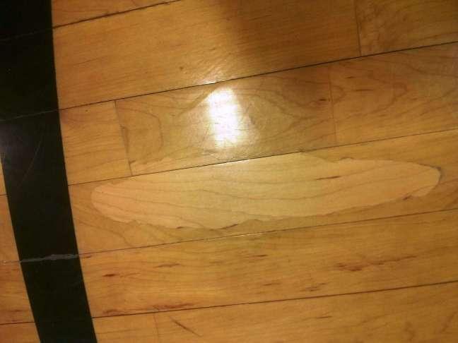 Example of Peeling Floor Finish