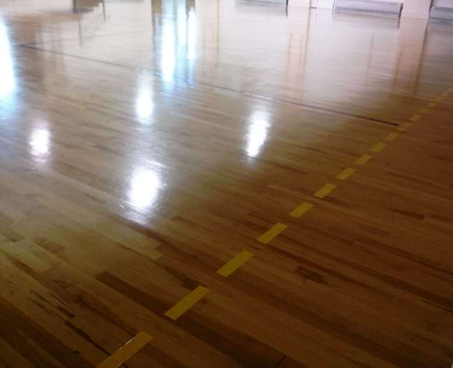 Wood Gym Floor High Gloss Coatings MN