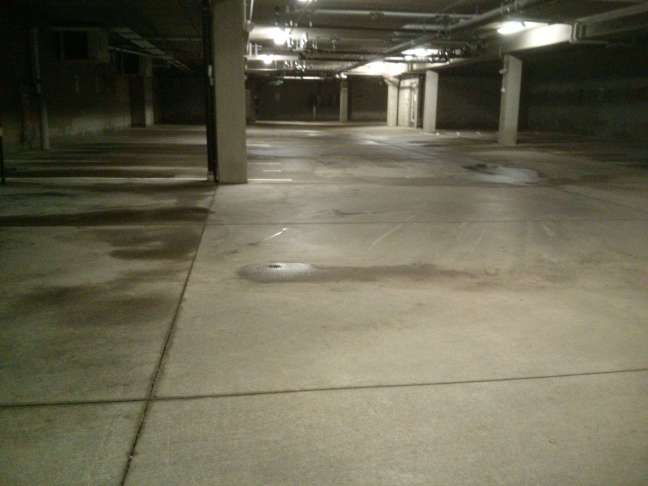Parking Garage Concrete Floor Pressure Wash, Scrub and Cleaning Services in Woodbury, MN