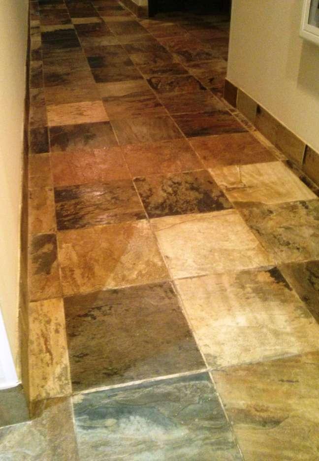 Slate floor penetrating sealer