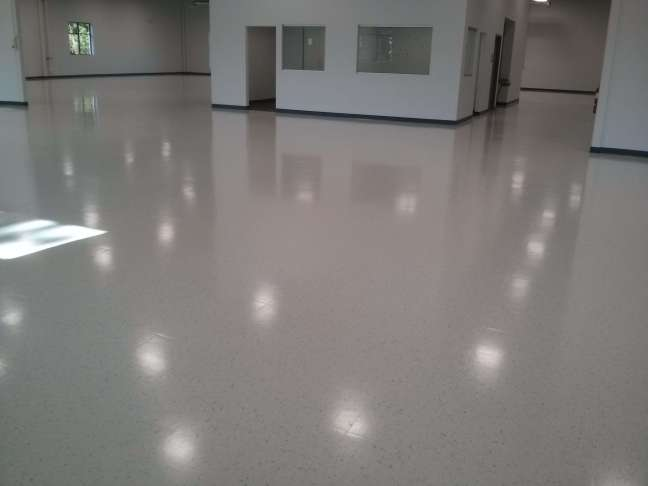 New Construction VCT Vinyl Tile Floor Coatings Minneapolis