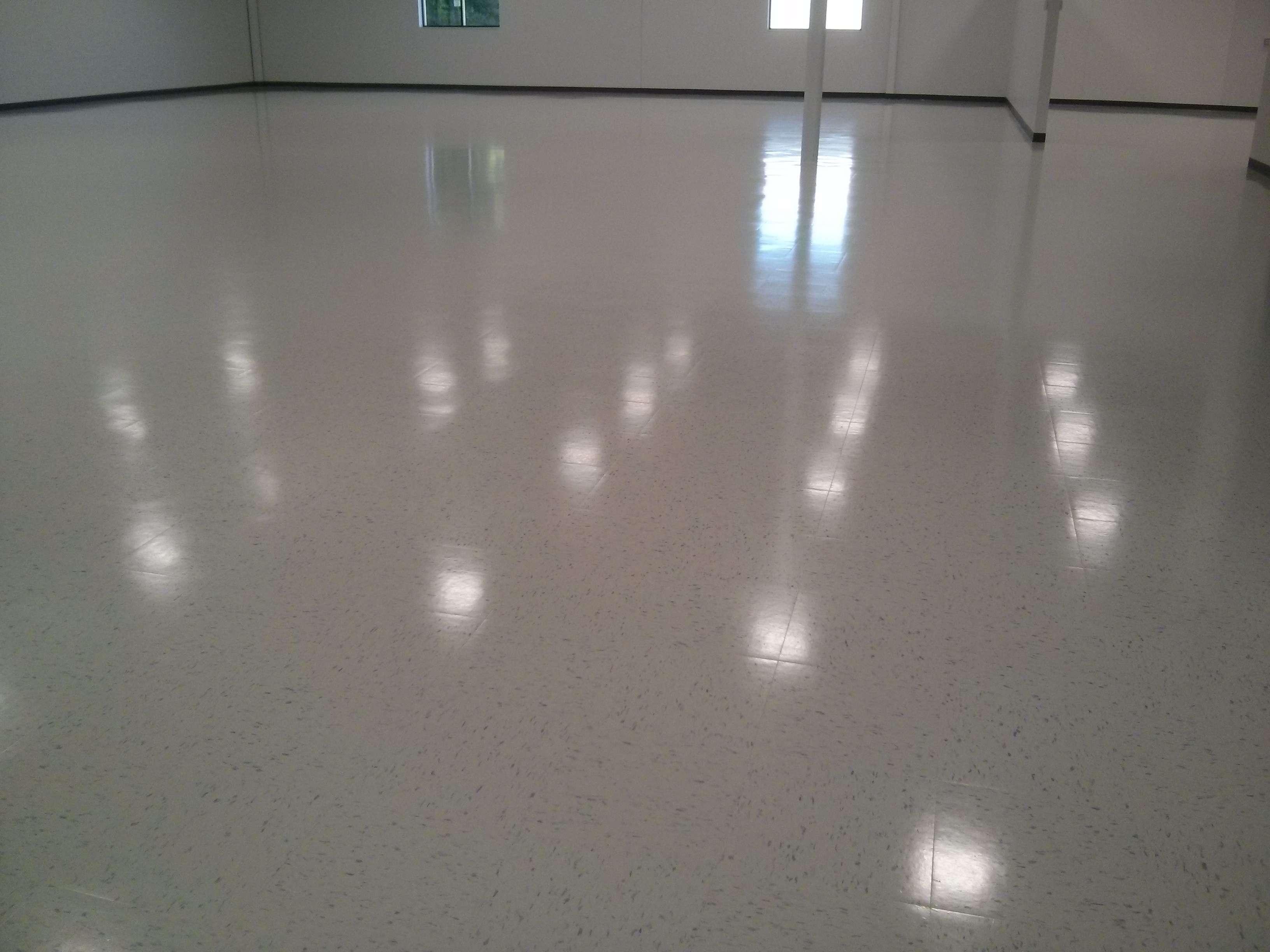 New Construction VCT Vinyl Tile Floor Scrub Seal Finish Minneapolis