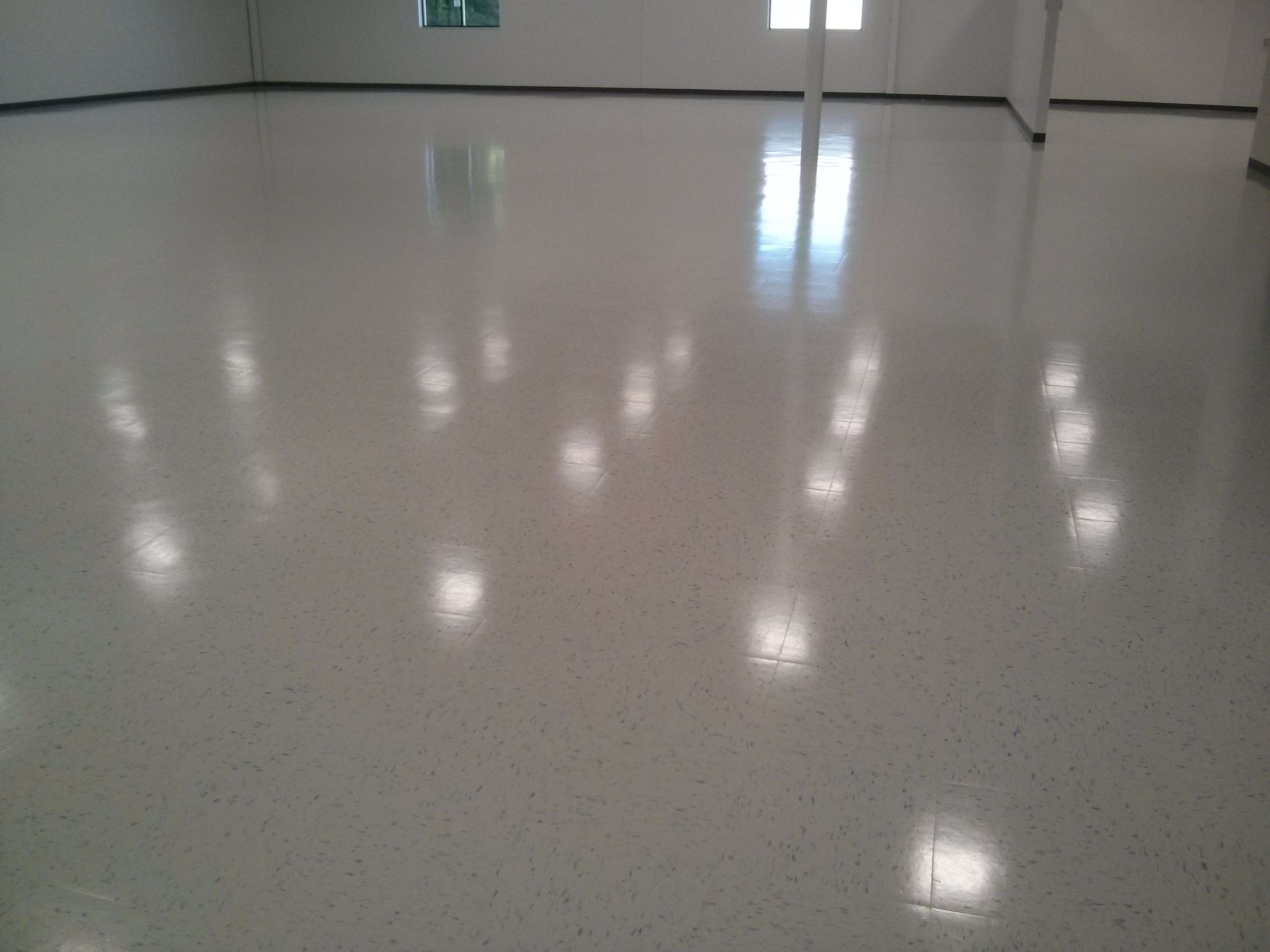 New Construction VCT Floor Tile Cleaning Sealing And Clear Coat Finish - Clear coat for tile floors