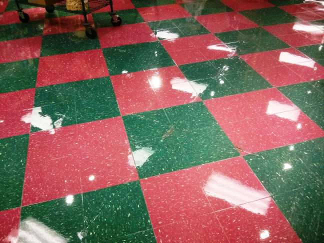 VCT Tile Floor finish