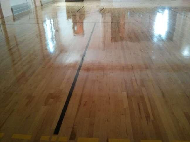 Wood gym floor coatings contractors Twin Cities