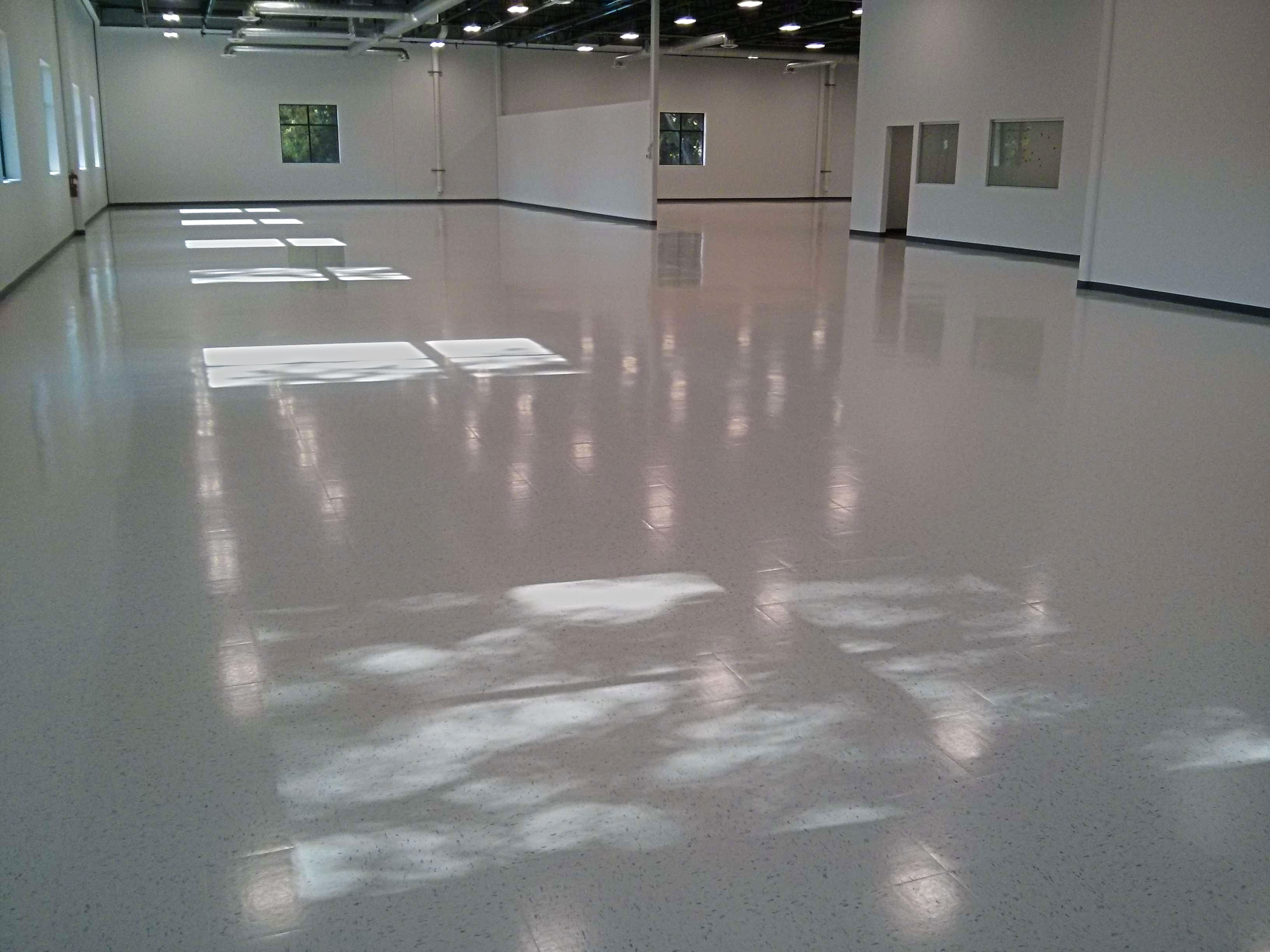 New Construction Vct Vinyl Tile Floor Cleaning Sealing And Clear