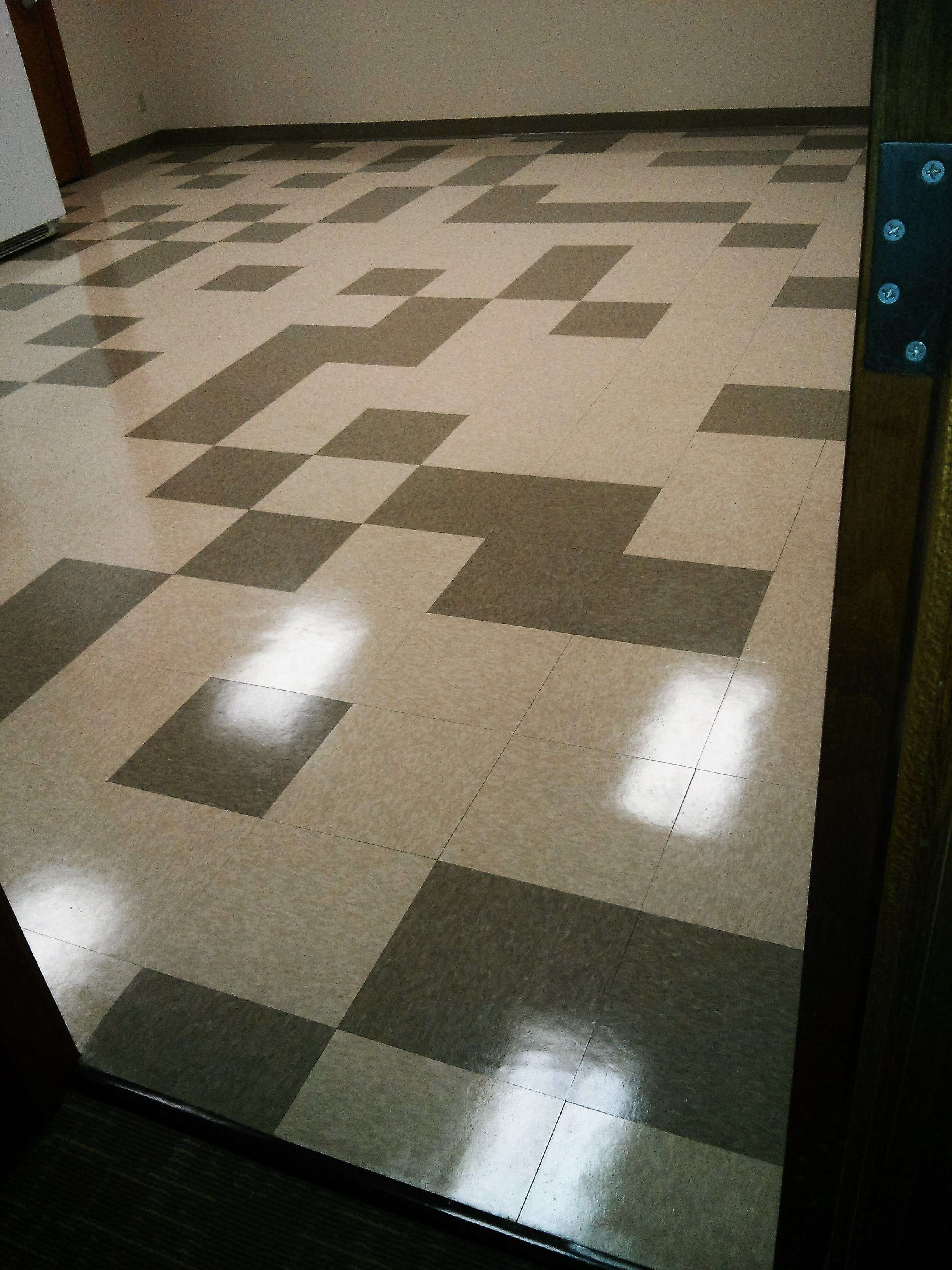 Vct floor tile floor strip and recoat job in mounds view mn vct tile floor strip wax dailygadgetfo Choice Image