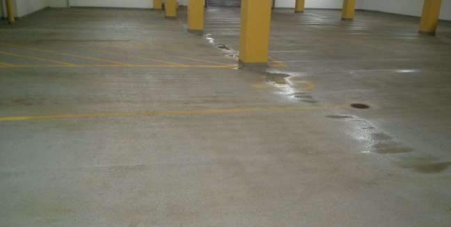 Parking Garage Concrete Floors Pressure Washing Minnesota