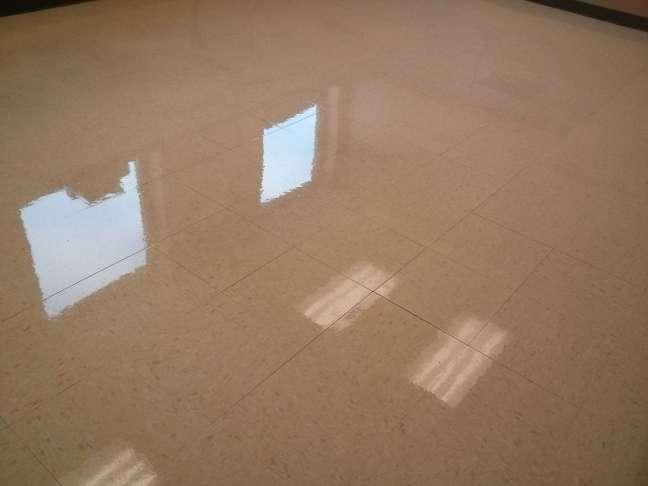 VCT tile floor in Glencoe MN