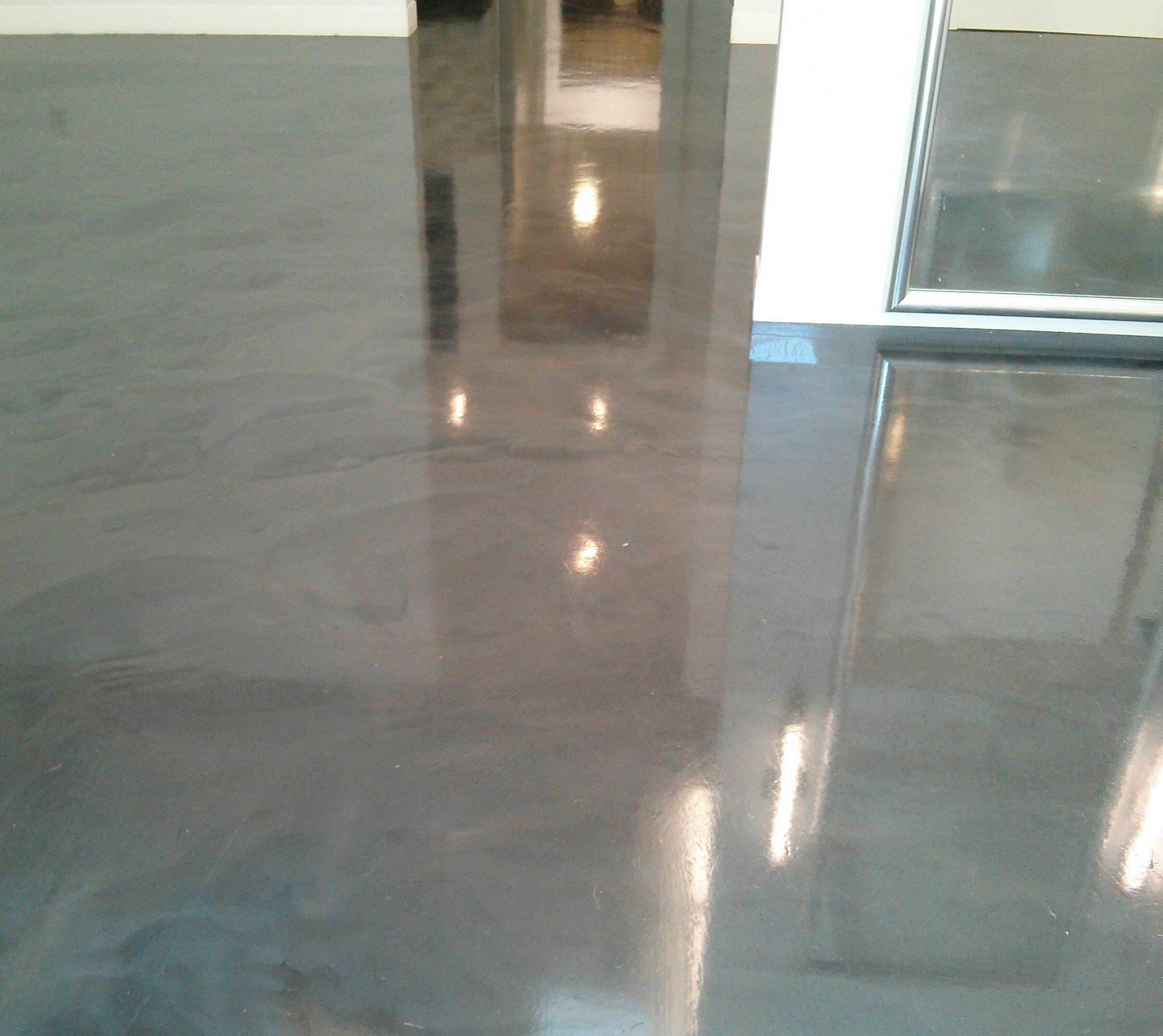 polished concrete floor needed sealer and clear coat in wayzata mn