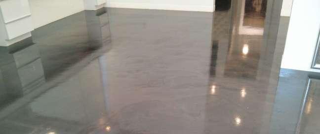 Polished Concrete Floor Scrub and Recoat in Lake Minnetonka area