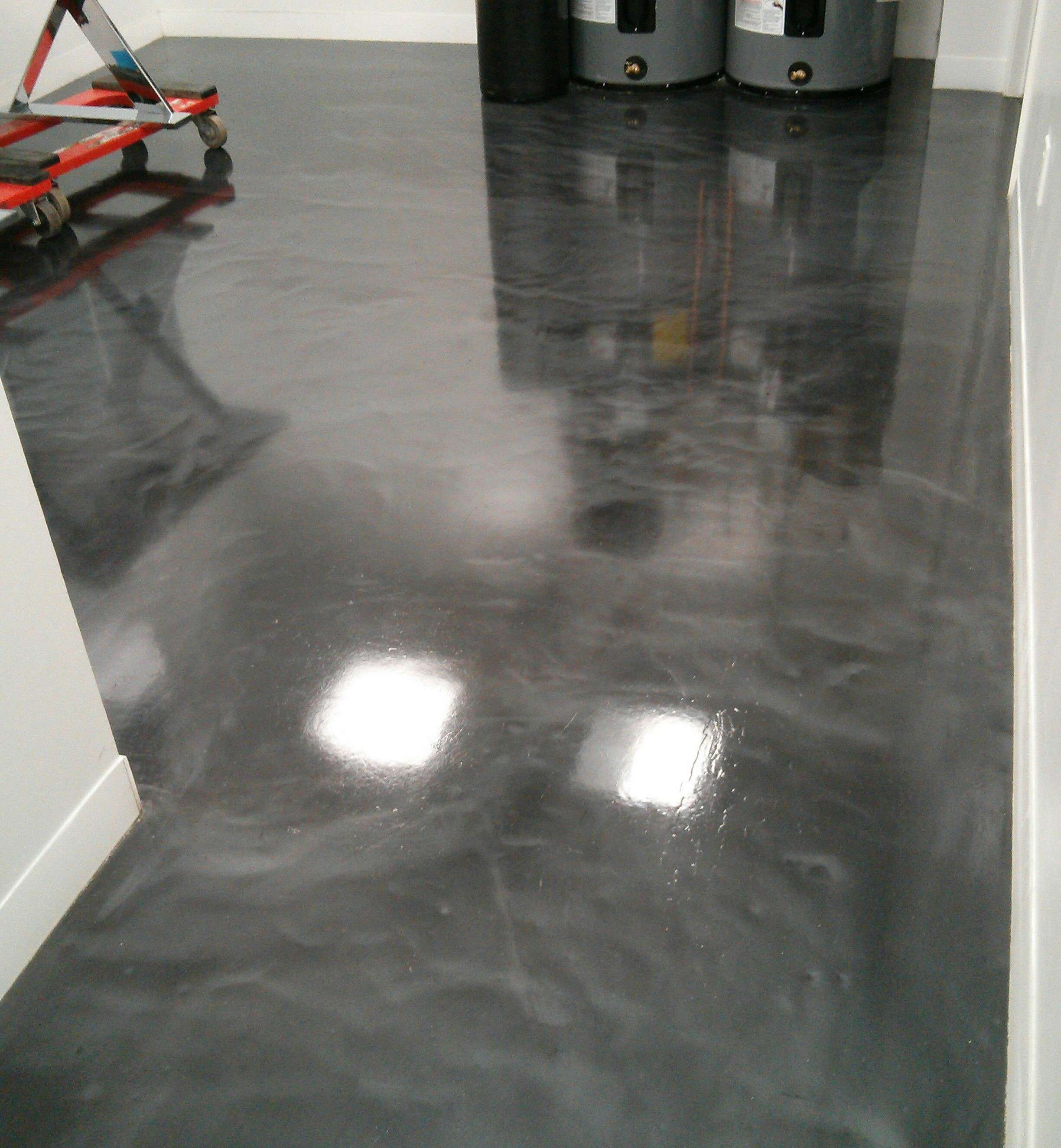 Coating driveway treatments for Scrubbing concrete floors