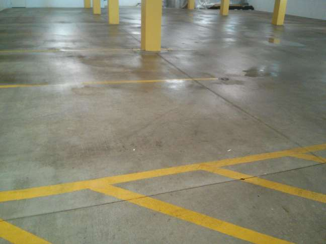 Scrub-n-Shine Deep Cleans Parking Garage Floors in MN