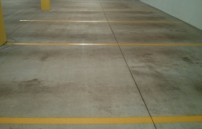 Parking Garage Floor Cleaning and Re-Striping Job in Wayzata MN