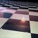 Restaurant VCT Floor Scrub and High Gloss Clear Coatings Job in Minneapolis