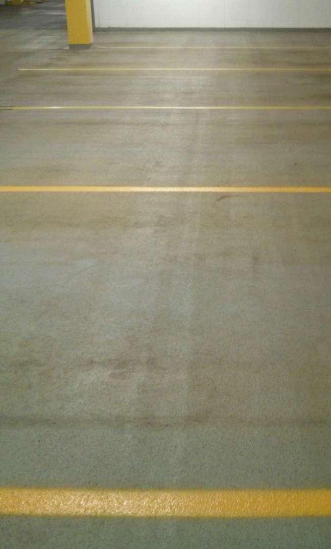 Parking Garage Floor Scrub and Re-Striping in Minneapolis