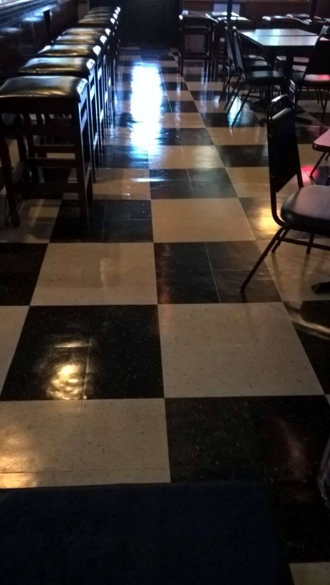 Old VCT Floor Clear Coat Finish in St Michael MN Bar