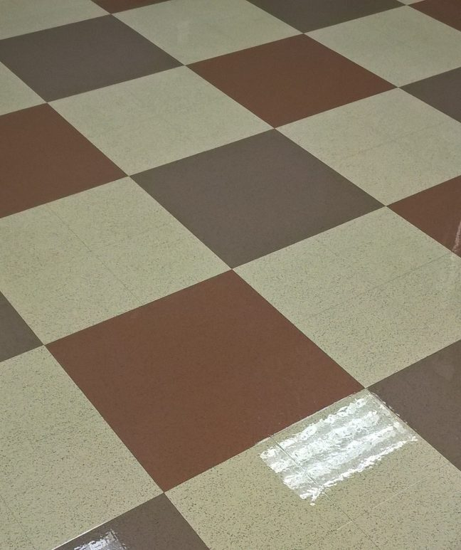 VCT Floor Scrub and Clear Coat in Chanhassen MN