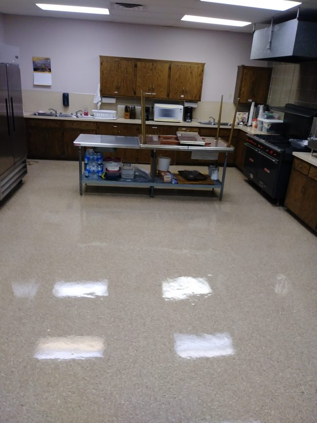 VCT Floor Scrub and ReCoating in Church