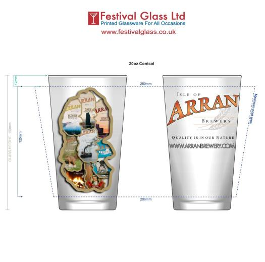 Arran Brewery Glass