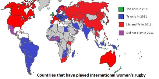 Women's rugby worldwide 2011