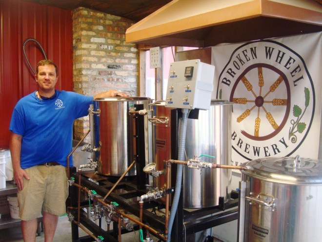 Brewer Chris Pahl Of Broken Wheel Brewery