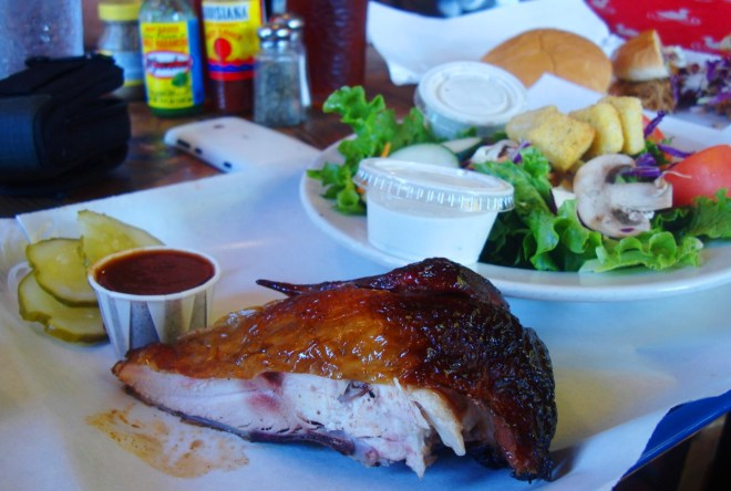Smoked Chicken Plate at Ruby's Barbecue