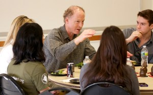 MIT freshmen and faculty participate in a luncheon as part of the First Year Experience program, which assists first year students on their development journey in their living communities; introducing them to resources, services, programs and opportunities that promote personal growth and academic success.
