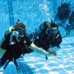 PADI Open Water Diver pool skills