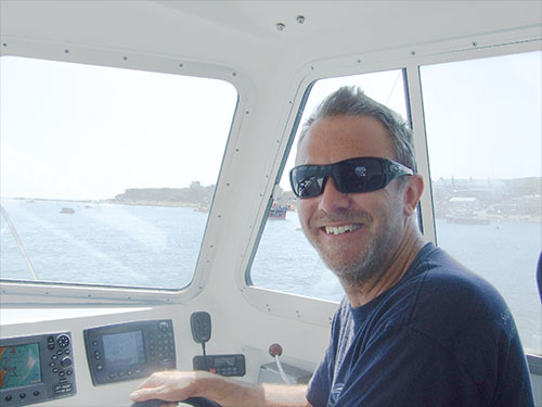 Bryan, the skipper of Mary Jo