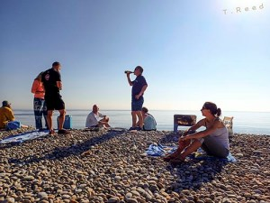 Chesil Beach Barbecue with Scuba Blue
