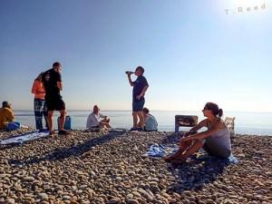 Chesil Beach Barbecue with Scuba Blue