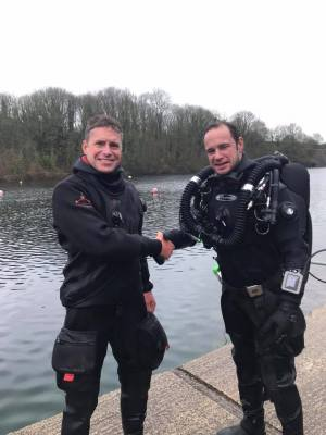 Andy with instructor, Tim Clements