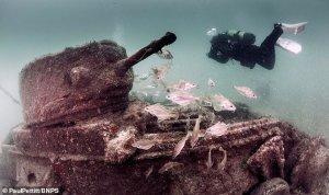 The Valentine Tanks off Swanage