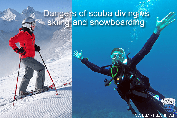 Dangers of scuba diving vs skiing and snowboarding