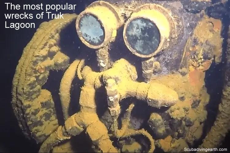 The most popular wrecks of Truk Lagoon
