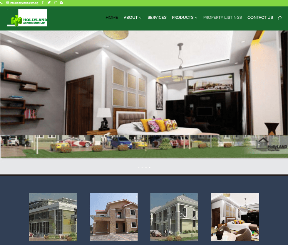 Hollyland Apartments Limited website created by scubedstudios
