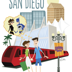 Missing San Diego Comic Con by Patrick Scullin