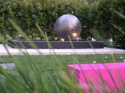 Sphere in pool