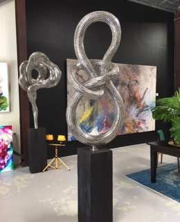 glimmer steel sculpture from sculptura gallery
