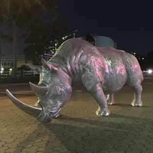 Aluminium Sculpture Rhino