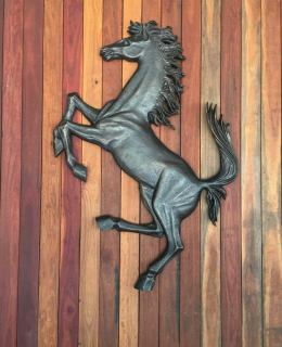 Ferrari Cavallino Bronze wall sculpture