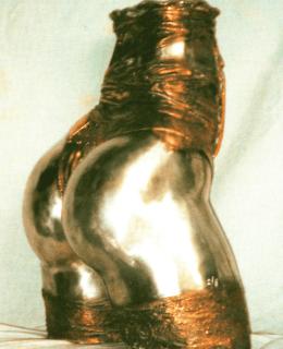 Femme Vase bronze sculpture