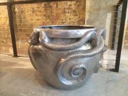 Aluminium Serpent Urn sculpture