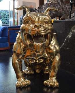 Bronze Bulldog Statue Sarco