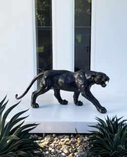 main-Aggressive-Panther-Sculpture-Black - -Sculptura-017-500x616