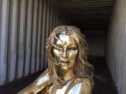 Sculptura - fashion sculpture bronze - Kate Moss