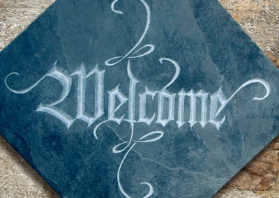 Welcoming sign